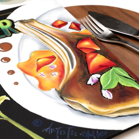 おしゃれカフェ風に描く チョークアート